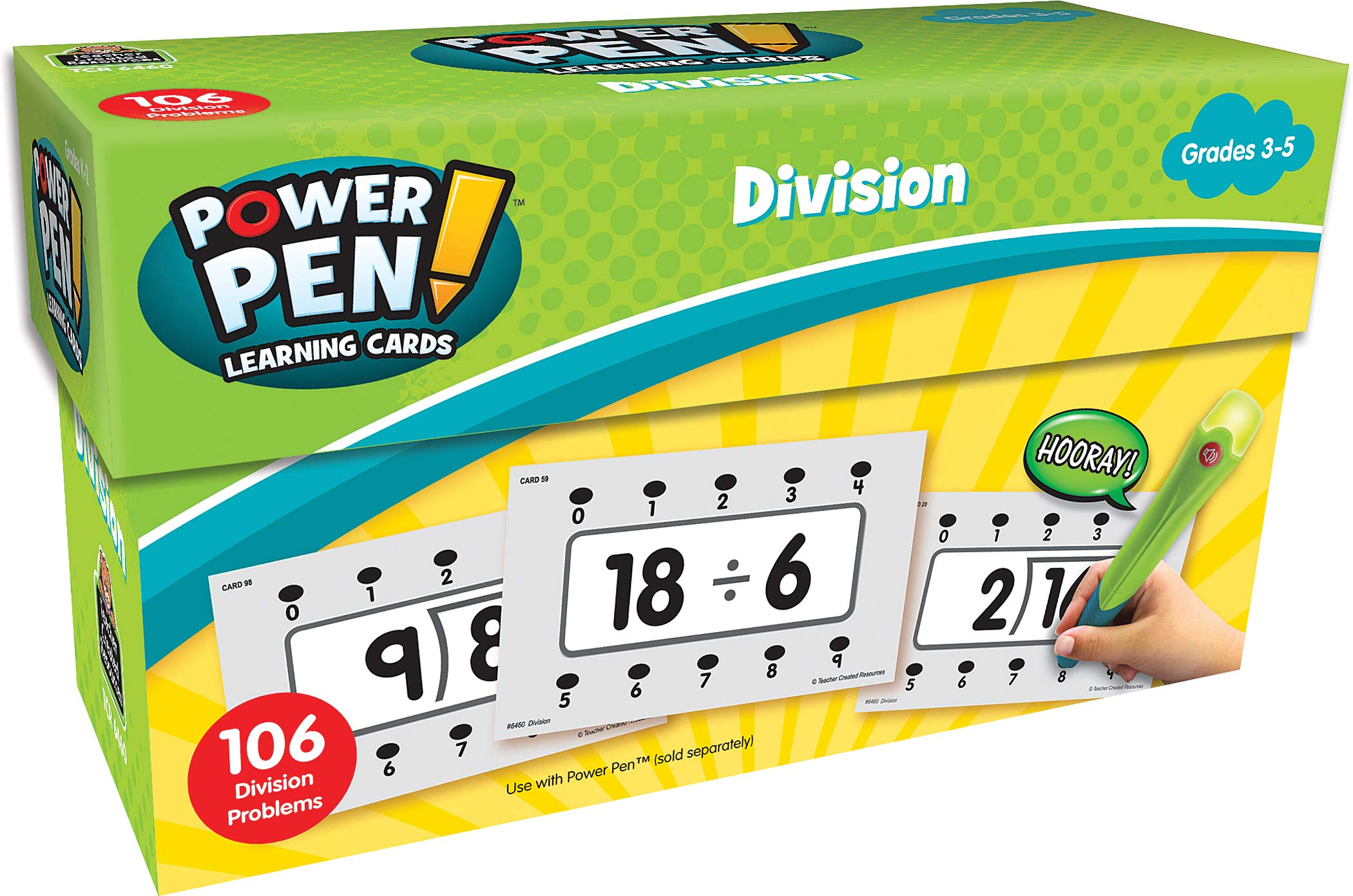 Teacher Created Resources Power Pen Learning Cards: Division (6460)