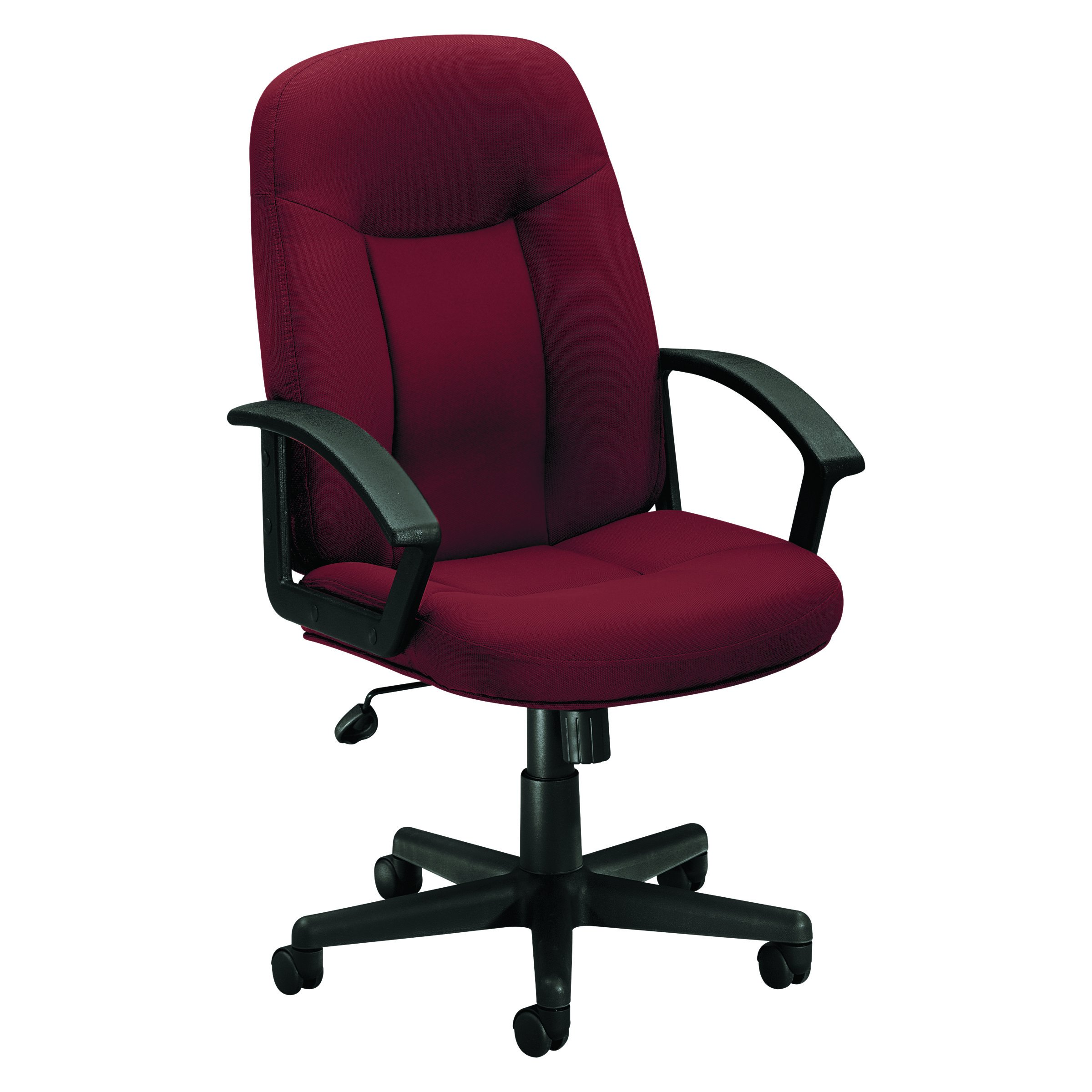 HON Mid-Back Chair with Loop Arms for Office or Computer Desk, Burgundy (HVL601)