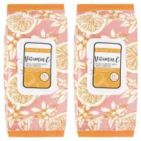 Clinical Works - 2 Pack (60 Count Each) Vitamin C Facial Cleansing Wipes