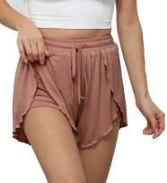 TIMOCHALA Women's Casual Athletic Yoga Shorts Elastic Waist Loungewear Workout Shorts Comfy Drawstring Running Shorts, S-XXL