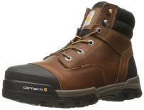"Carhartt Men's 6"" Energy Brown Waterproof Soft Toe CME6055 Industrial Boot"