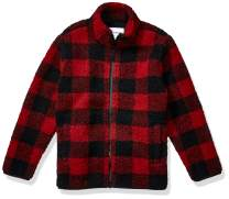 Amazon Essentials Boys Polar Fleece Lined Sherpa Full-Zip Jackets