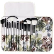 UNIMEIX Makeup Brush Premium 12 Pieces Makeup Brushes Set Foundation Powder Contour Concealer Blending Eyeshadow Professional Bursh Set with Floral Case