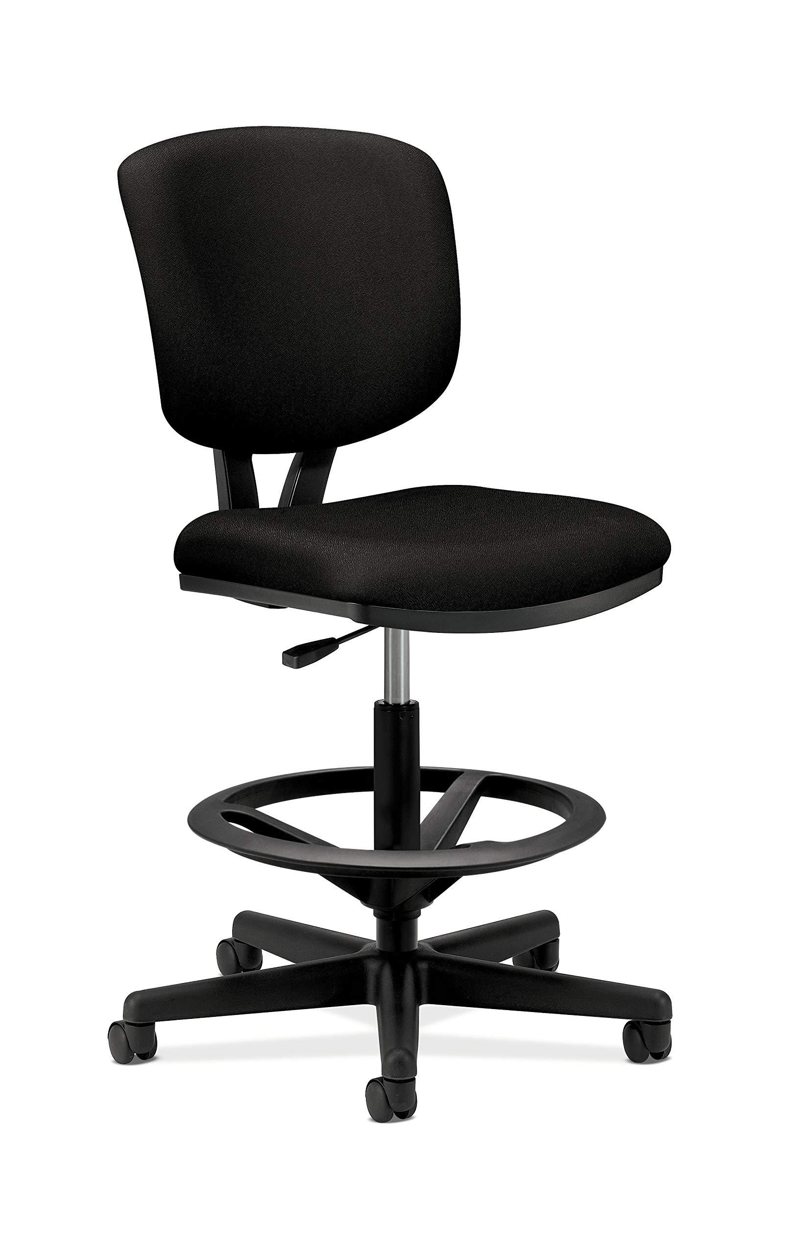 HON Volt Task Stool Chair, Armless, in Black (H5705)
