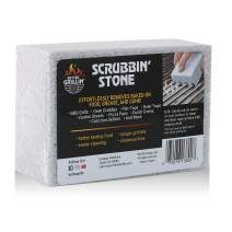 BETTER GRILLIN' Scrubbin Stone Grill Cleaner-Scouring Brick/Barbecue Grill Brush/Barbecue Cleaner for BBQ, Griddle, Racks