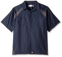 Red Kap Men's Big and Tall Diamond Plate Short-Sleeve Work Shirt