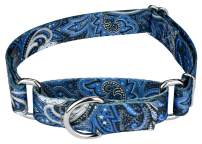 Country Brook Petz - Martingale Dog Collar - Paisley Collection - Made in The U.S.A.