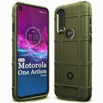 Sucnakp Moto One Action Case,Moto P40 Power Case Heavy Duty Shock Absorption Phone Cases Impact Resistant Protective Cover for Motorola Moto One Action/Moto P40 Power(New Army Green)