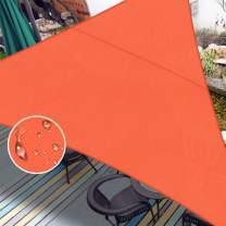 LOVE STORY Waterproof 16'5''x16'5''x16'5'' Triangle Orange Redd Sun Shade Sail Cannoy UV Resistant for Outdoor Patio Garden Backyard