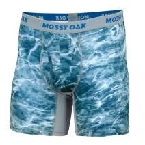 Mossy Oak Fishing Mens Boxer Briefs, Quick Dry & Anti Chafing Underwear