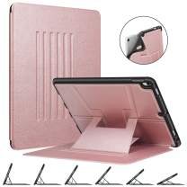 """Fintie Magnetic Stand Case for iPad Air 10.5"""" (3rd Generation) 2019 / iPad Pro 10.5"""" 2017, Multi-Angle Viewing Rugged Soft TPU Back Cover with Pencil Holder, Auto Wake/Sleep, Rose Gold"""