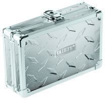 "Vaultz Locking Supplies & Pencil Box with Key Lock, 5""x 2.5""x 8.5"", Treadplate (VZ03608)"
