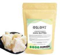 Organic Unrefined Shea Butter 1 LB by Oslove Organics -Raw, African,100% Pure, Non-GMO, Fresh, Rich and Creamy
