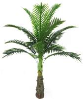 AMERIQUE 4 Feet Phoenix Palm Artificial Tree Silk Plant W Standable Trunk, UV Protection, Feel Real Technology, Super Quality, 15 Big Leaves, Green