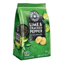 Red Rock Deli Lime & Cracked Pepper Flavored Deli Style Potato Chips, 4.88 Ounce (Pack of 8)