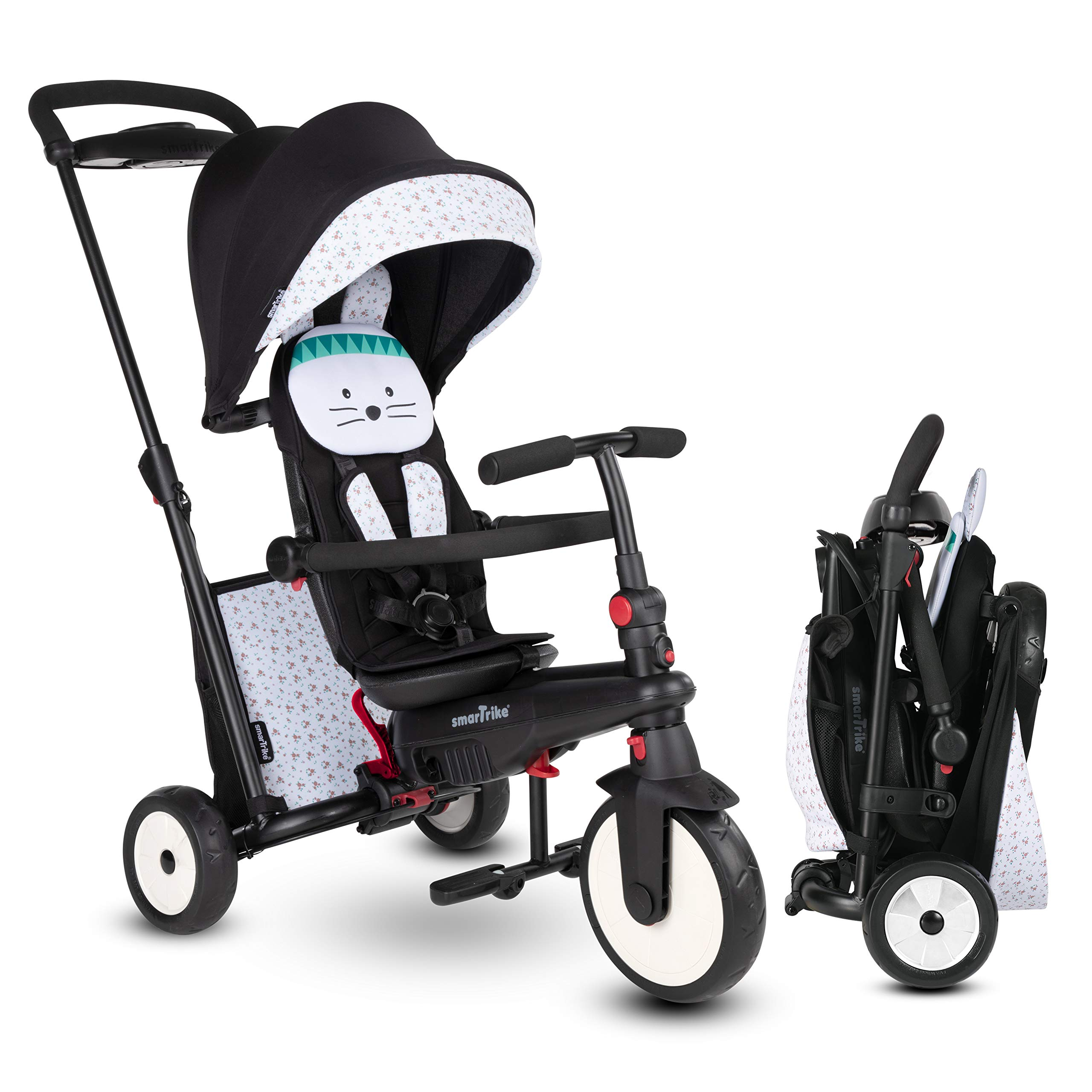 smarTrike STR5 Folding Toddler Tricycle for 1,2,3 Year Old - 7 in 1 Multi-Stage Trike
