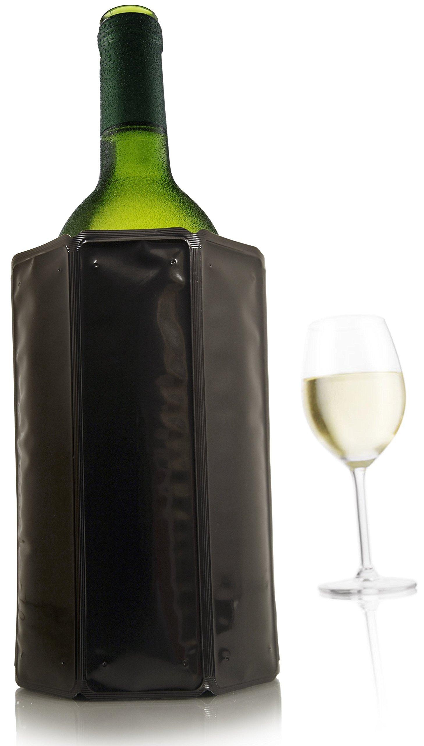 Vacu Vin Active Wine cooler gel pack, 6 7/8th, Black