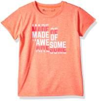 Under Armour Girls' Little Basic Short Sleeve Graphic Tee Shirt