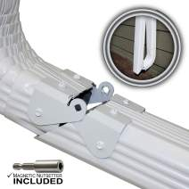 Zip Hinge 4 Pack Plus | 1-6 Packs of Gutter Extension Hinges w/Clasp + Magnetic Nutsetter | DIY Installation on Any Size Rectangle or Square Downspout