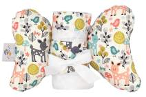 Baby Blanket and Pillow Set, for Newborn Babies to Toddlers, Gift Set for Baby Showers, Birthdays, or Holidays - Baby Elephant Ears (Woodland Wonder)
