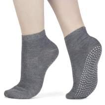 3 x Pair Non Slip Yoga Socks Pilates - Ballet Barre Dotted Grip Unisex Socks |3 Pack|Size 6-11