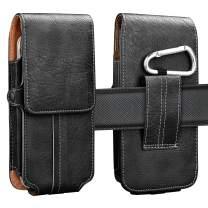 Njjex Phone Holster For LG K40 K30 K20 K10 LG Rebel 4 Phoenix 4 Aristo 4 3 2 Stylo 5 4 3 2 Moto Z3 Z4 E5 Play E5 Go E6 G7 Power G7 Play G7 Plus G Power G Stylus, PU Leather Belt Clip Pouch Wallet Case