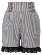 SCARLET DARKNESS Women's Steampunk Shorts High Waist Victorian Ruffled Pants