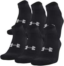 Under Armour Adult Cotton Low Cut Socks, 6-Pairs