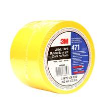 3M Vinyl Tape 471, 3 in x 36 yd, Yellow, 1 Roll, Paint Alternative for Floor Marking, Social Distancing, Color Coding, Safety Marking