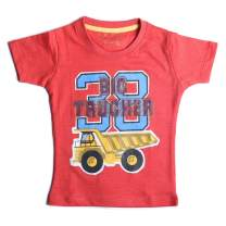 kidstudio T Shirts for Boys Short Sleeve Round Neck Kids Graphic Printed Tees, 1-7 Years