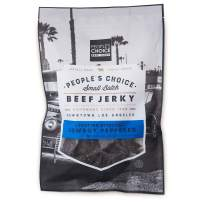 People's Choice Beef Jerky - Tasting Kitchen - Cowboy Peppered Beef Jerky - Camping Food, Backpacking Snacks, Road Trip Snacks - High Protein Low Sodium Healthy Snacks - 1 Pound, 16 oz - 1 Bag
