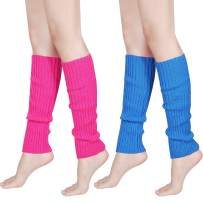 80s Women Knit Leg Warmers Ribbed Leg Warmers for Party Accessories