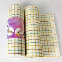 PandS Reusable Kitchen Towel – Plaid Handy Wipes - Colorful Place Mat - Cleaning Cloths One Roll Replaces 6 Months of Paper Towels - Strong Absorbent and Quick Dry (4 Roll = 160 Pcs)