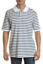 YAGO Men's Casual Short Sleeve Cotton Blend Pique Polo Shirt S-5XL