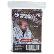 Emergency Zone Thermal Reflective Emergency Blanket. Available in 1, 5, 10, and 200 Packs