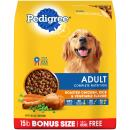 PEDIGREE Adult Roasted Chicken, Rice & Vegetable Flavor Dry Dog Food 15 Pounds