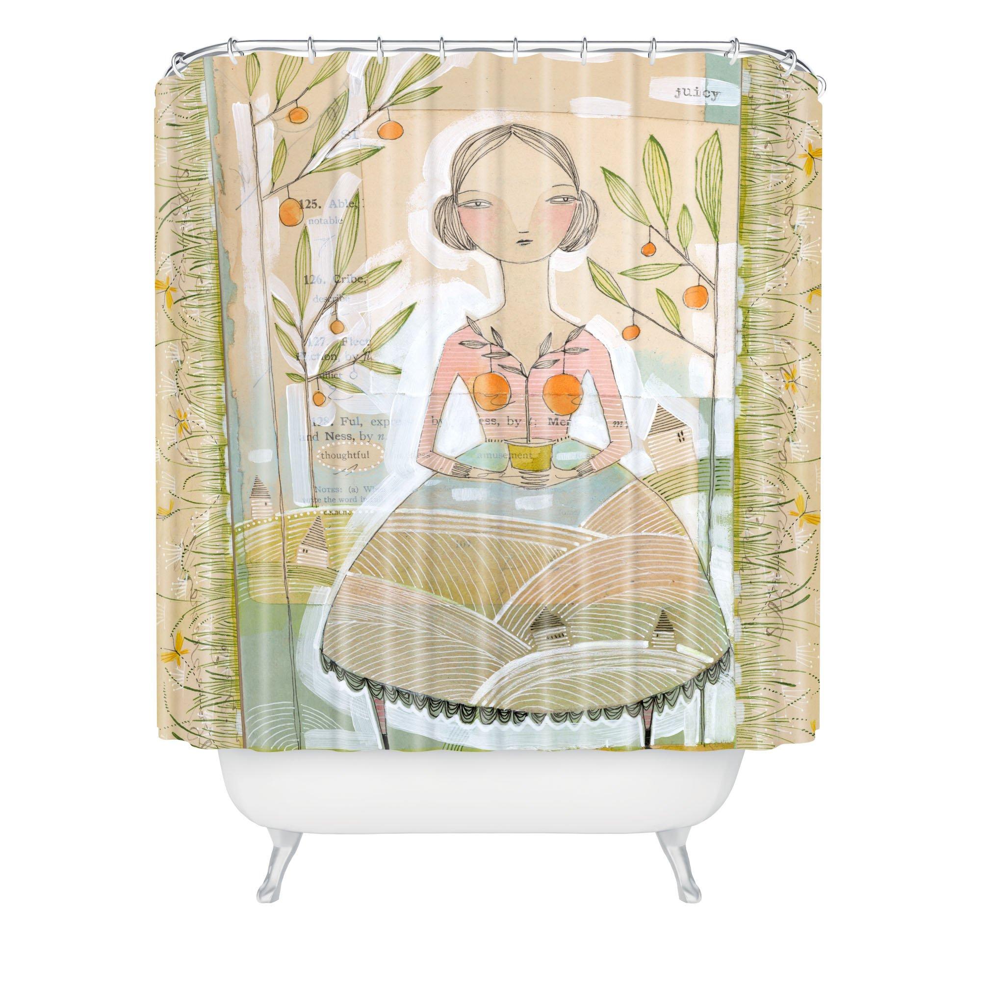 "Deny Designs Cori Dantini Always Thoughtful Shower Curtain, 69"" x 72"""