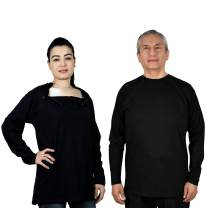 Inspired Comforts Chemotherapy Port Access Shirt with Discreet Dual Zippers