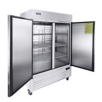 """54"""" Two Section Solid Door Reach-in Commercial Refrigerator - KITMA 49 cu. ft Side by Side Stainless Steel Upright Fridge for Restaurant"""