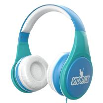 KidRox RS4 Kids Headphones 85dB Volume Limited Adjustable and Safe Hearing Protection Tangle Free Wired On-Ear Earphones for Children Toddler Boys Girls (Blue)