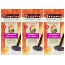 Teeccino Chicory Coffee Alternative – Almond Amaretto – Herbal Coffee   Ground Coffee Substitute   Prebiotic   Caffeine Free   Acid Free   Medium Roast, 11 Ounce, (Pack of 3)