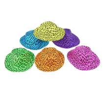 Fun Central 12 Pieces - Animal Print Gangster Hat for Men & Women in Bulk Party Favor Supplies - Assorted Designs
