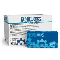 GLOVEWORKS Industrial Beige Latex Gloves - 4 mil, Powdered, Textured, Disposable, Small, TL42100, Case of 1000