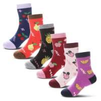 Children's Winter Thick Warm Soft Cute Crew Wool Socks For Kids Boys Girls 6 Pairs