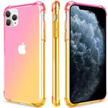 Salawat for iPhone 11 Pro Max Case, Clear Cute Gradient iPhone 11 Pro Max Phone Case Slim Thin Anti Scratch TPU Cover Shockproof Protective Case for iPhone 11 Pro Max 6.5 Inch 2019 (Pink Gold)