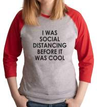7 ate 9 Apparel Womens Social Distancing Before It was Cool Red Shirt