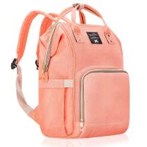 Lifecolor Diaper Bag Multi-functional Nappy Bags Waterproof Travel Backpack for Mom Baby Care(Pink)