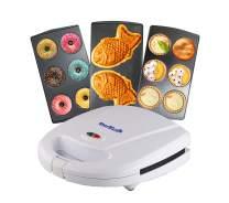 Mini-Donuts Maker, Mini-Pie Maker, Taiyaki Maker – 3 in 1 Three Slices Detachable Dessert Maker by StarBlue, Wonderfully non-stick Plates, Cool-Touch Dessert Factory – White AC 110-120V 50/60Hz 700-800W