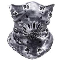 Ejiubas Balaclava Neck Gaiters Face Scarf Unisex Headwear Stretchy Bandana Dust Scarf Headbands