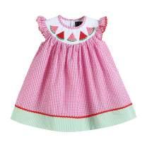 Lil Cactus Girls Classic Flutter-Sleeved Smocked Bishop Dress